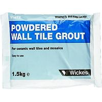 Wickes Powdered Wall Tile Grout White 1.5kg