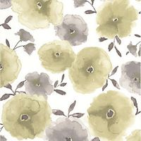 Superfresco Easy Poppies Decorative Wallpaper Green