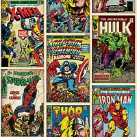 Marvel Action Heroes Decorative Wallpaper Multi
