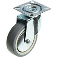 Wickes 75mm Heavy Duty Castor Wheel Swivel Plate Pack 2