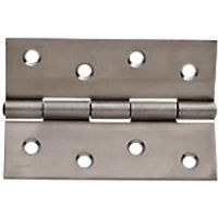 Wickes Butt Hinge Stainless Steel 102mm 3 Pack
