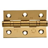 Wickes Grade 7 Fire Rated Ball Bearing Hinge Brass Effect 75mm 2 Pack
