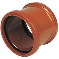 Wickes 110mm Terracota Drain Double Socket Coupling