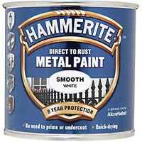 Hammerite Metal Paint Smooth White 250ml
