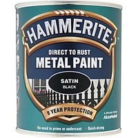 Hammerite Metal Paint Satin Black 750ml