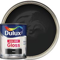 Dulux Non Drip Gloss Black 750ml