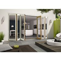 Wickes Cairo External Folding Door Set Aluminium-clad White 14ft Wide