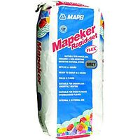 Mapei Mapeker Rapid Set Tile Adhesive Grey 20kg
