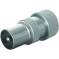 Wickes TV/Fm Coaxial Alloy Plugs 2 Pack