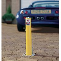 Marshalls Driveway Security Post Yellow