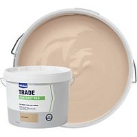 Wickes Contract Silk Emulsion Paint Emulsion Paint Cappuccino 10L