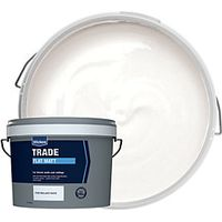 Wickes Trade Flat Matt Emulsion Paint Brilliant White 10L