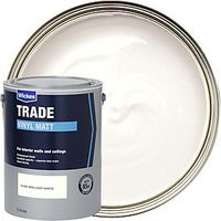 Wickes Trade Vinyl Matt Emulsion Paint Pure Brilliant White 5L