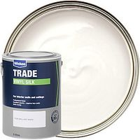 Wickes Trade Vinyl Silk Emulsion Paint Pure Brilliant White 5L