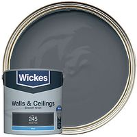 Wickes Colour @ Home Vinyl Matt Emulsion Paint- Dark Flint 2.5L