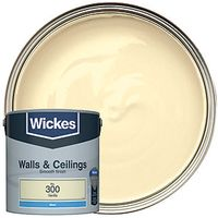 Wickes Colour @ Home Vinyl Matt Emulsion Paint- Vanilla 2.5L