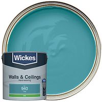 Wickes Colour @ Home Vinyl Silk Emulsion Paint- Teal 2.5L