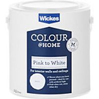 Wickes Colour @ Home Pink to White Emulsion Paint 2.5L