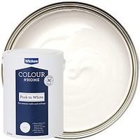 Wickes Colour @ Home Pink to White Emulsion Paint 5L