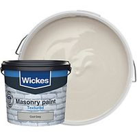 Wickes Textured Masonry Paint Cool Grey 5L