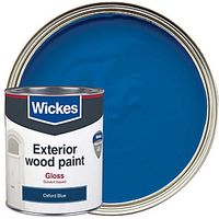 Wickes Exterior Gloss Paint Oxford Blue 750ml