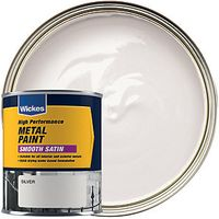 Wickes Metal Paint Smooth Satin Silver 750ml