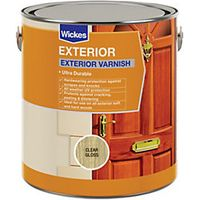Wickes Exterior Varnish Clear Gloss 2.5L