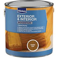Wickes Woodstain Warm Oak 2.5L