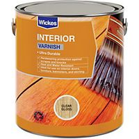 Wickes Professional Interior Varnish Clear Gloss 750ml
