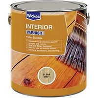 Wickes Professional Interior Varnish Clear Matt 750ml