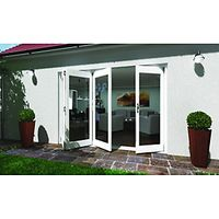 Wickes Lyndon Finished Folding Patio Door White 10ft Wide