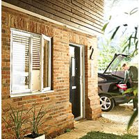 Wickes Timber Casement Window White 1045x1765mm Side Hung & Centre Fixed Lite