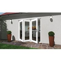 Wickes Lyndon Finished Folding Patio Door White 8ft Wide Reversible