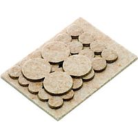 Wickes Assorted Heavy Duty Self Adhesive Felt Pads Pack 31