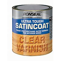 Ronseal Ultra Tough Interior Varnish Clear Gloss 2.5L