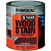 Ronseal 5 Year Woodstain Rosewood 750ml