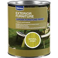 Wickes Garden Furniture Finish 750ml Natural Cedar