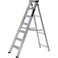 Youngman 7 Tread Industrial Builders Step Ladder