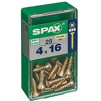 Spax Universal Zinc Yellow Screws 4.0 x 16mm Pack 25