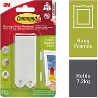 Command Large Picture Hanging Strips White 2 Pack