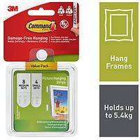Command Small and Medium Picture Hanging Strips Value Pack White