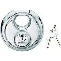 Wickes Disc Padlock Stainless Steel 70mm