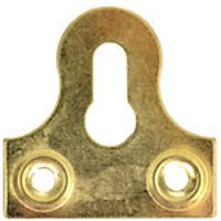 Wickes Glass Plate Slotted Brass 33mm 10 Pack
