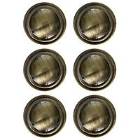 Wickes Ring Knobs Antique Brass Effect 35mm 6 Pack