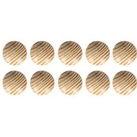 Wickes Unvarnished Beech Ring Knobs 35mm 10 Pack