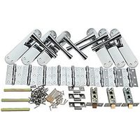 Wickes Bella Latch Handle Set Polished Chrome Finish 3 Pack