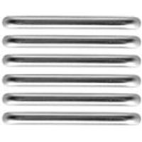 Wickes D Bar Handles Brushed Nickel Finish 106mm 6 Pack