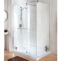 Wickes Contemporary Walk-In Enclosure With Tray 1400x900mm