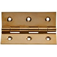 Wickes Butt Hinge Solid Brass 76mm 3 Pack