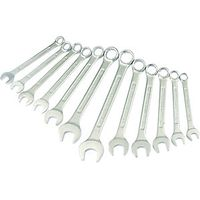 Wickes Chrome Plated Combination Spanner Set Pack 12